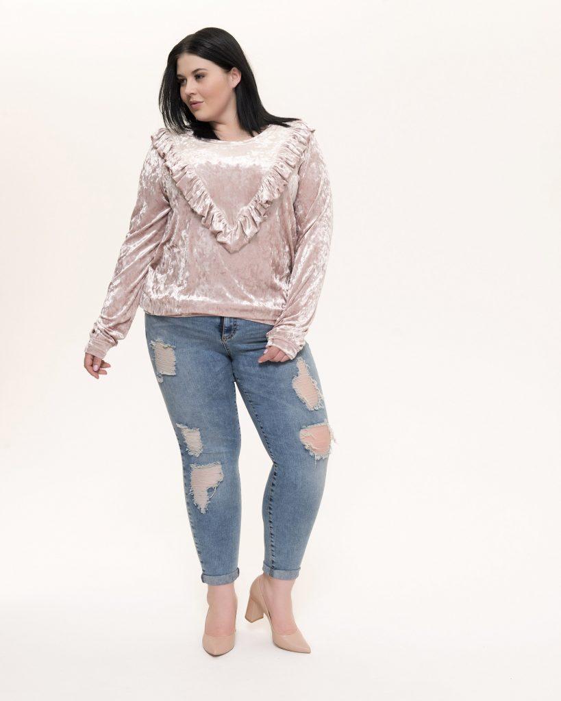 jeansy duże rozmiary